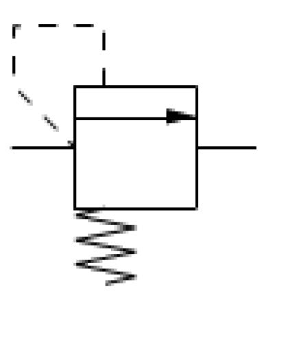 Fig. 3 Pressure relief valve symbol