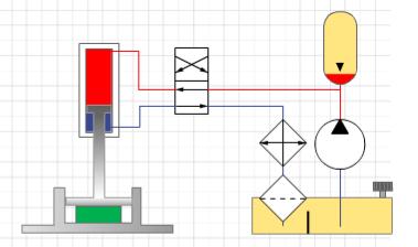Fig. 4 Hydraulic press with accumulator