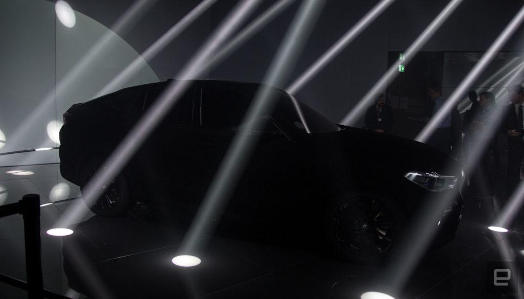 Vantablack BMW X6 SUV
