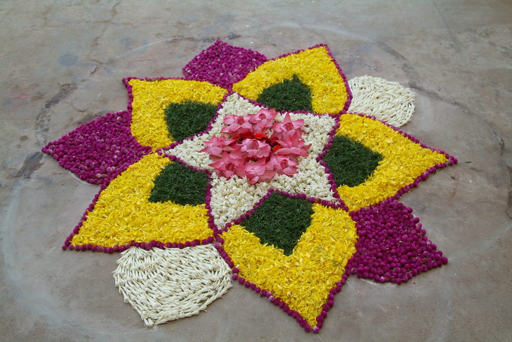 Eco-friendly Diwali rangoli
