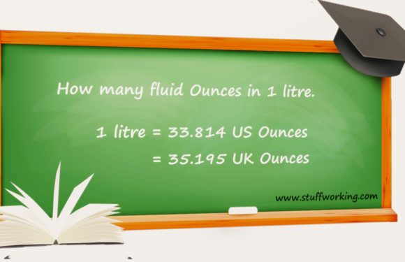 Fluid ounces to Liter | How many oz in a liter.