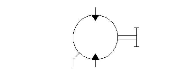 Bi-direction fix displacement motor