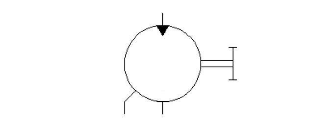 mono direction fix displacement motor