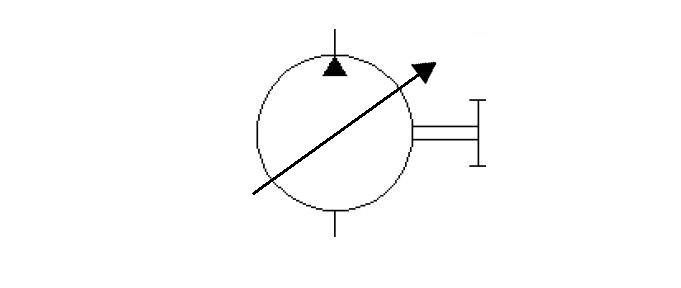 Mono direction variable displacement pump