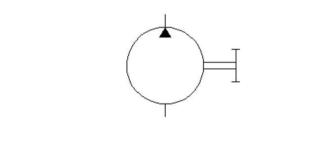 mono direction fix displacement pump