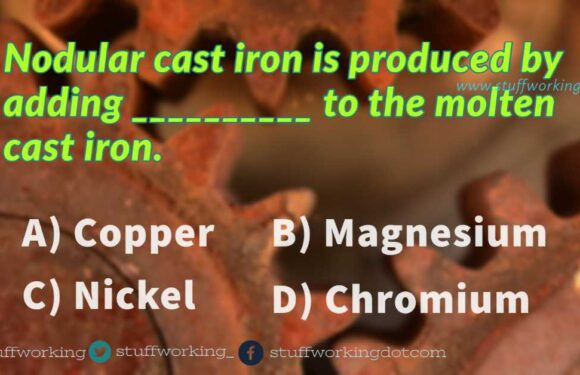 Nodular cast iron is produced by adding