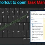keyboard shortcut for Task Manager