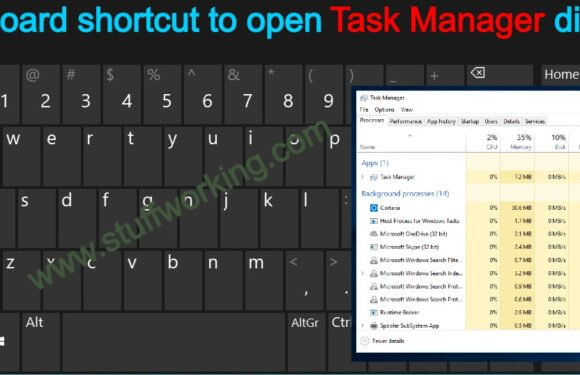 Open Task Manager directly: Keyboard shortcut
