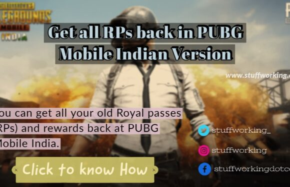 Get all RPs back in PUBG Mobile Indian Version