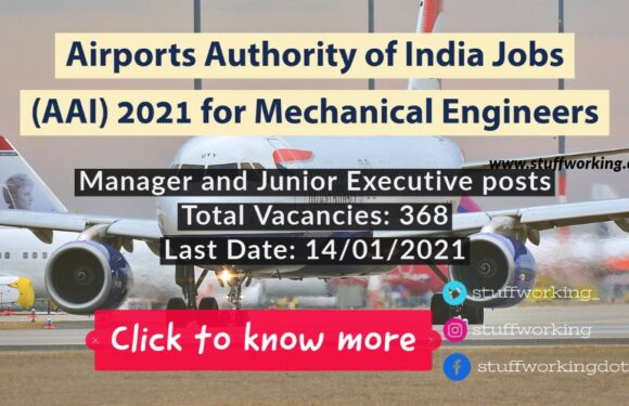 Airports Authority of India Jobs (AAI) 2021 for Mechanical Engineers