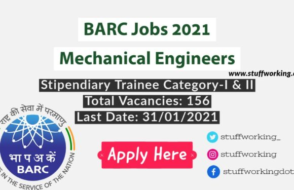 BARC Jobs 2021 for Mechanical Engineers