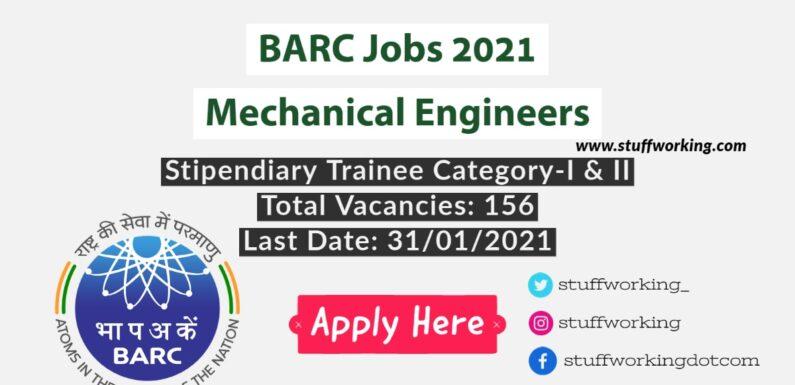 BARC Jobs 2021 for Mechanical Engineers
