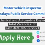 Motor vehicle inspector job