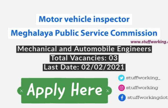 Motor vehicle inspector Job for Mechanical Engineer