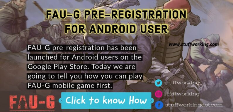 FAU-G Pre-Registration for Android User